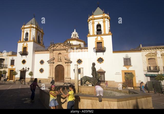 Spain Andalusia Plaza del Socorro - Stock Image