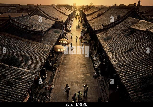 China, Pingyao, Street market - Stock Image