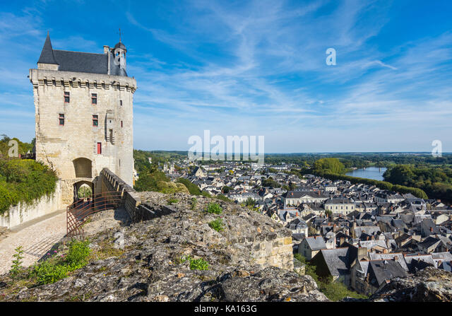 The Clocktower, Chateau Chinon,France. - Stock Image