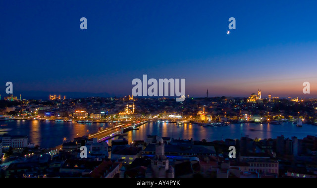 Istanbul at Dusk Turkey - Stock Image