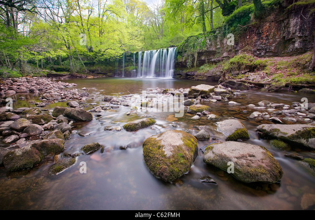 The Brecons Beacons waterfalls in the Ystradfellte area, Wales. - Stock-Bilder
