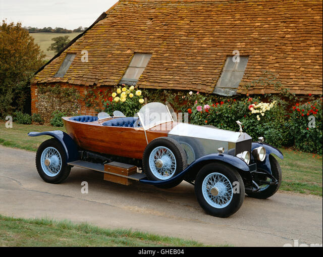 1922 Rolls Royce Silver Ghost tourer skiff type body Country of origin United Kingdom - Stock Image