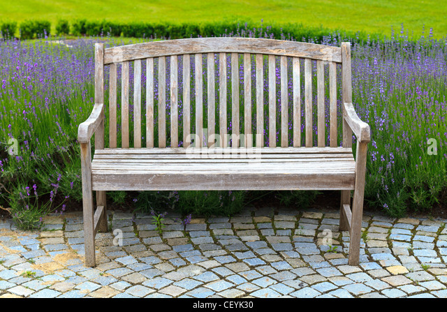 Wood garden bench stock photos wood garden bench stock for Beautiful wooden benches