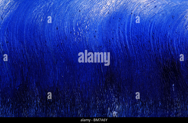 Deep blue abstract oil painting - Stock Image