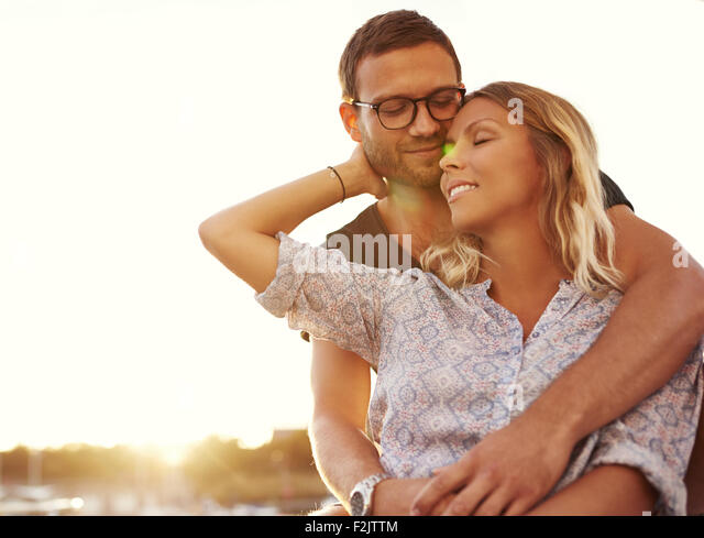 Husband And Wife on Vacation on a Warm Summer - Stock-Bilder