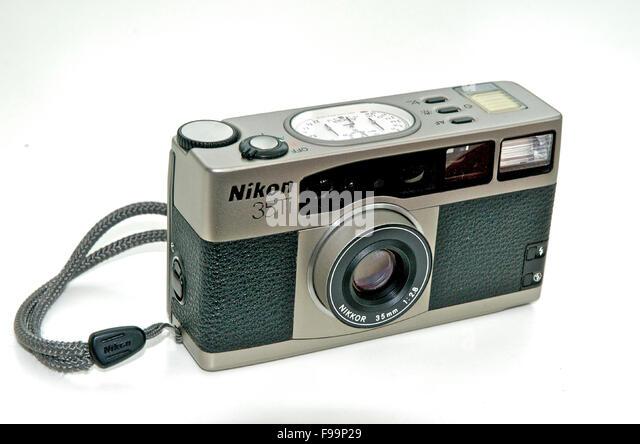 Nikon 35Ti quality compact 35mm film camera - Stock Image