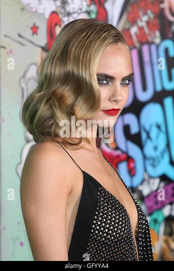 New York, USA. 1st August, 2016. Cara Delevingne at the World Premiere of Warner Bros. Pictures 'Suicide Squad' - Stock-Bilder