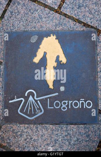 Sign camino de santiago stock photos sign camino de - St jean pied de port to santiago distance ...