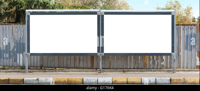 Blank outdoor - two billboards - Stock Image