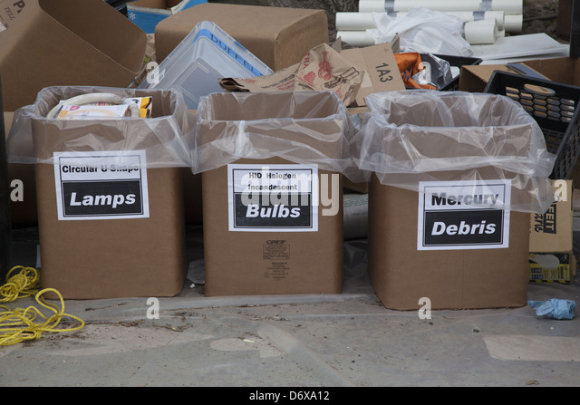 NYC Dept. of Sanitation, Bureau of Waste Prevention, electronics recycling and hazardous waste drop off day Brooklyn, - Stock Image