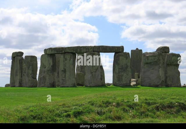 Stonehenge, megaliths, UNESCO World Heritage Site, Wiltshire, England, United Kingdom, Europe - Stock Image