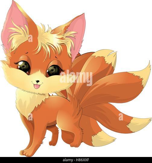 Cute cartoon fox face - photo#40