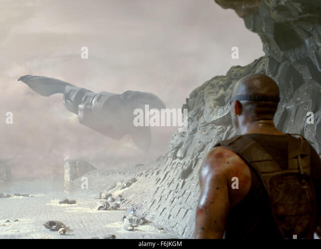 Jun 10, 2004; Los Angeles, CA, USA; VaakoA s frigate is seen leaving the planet Crematoria in the science fiction - Stock Image