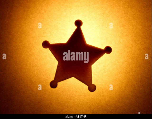 Badge Star Sheriff - Stock Image