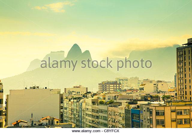 Urban Landscape Rio De Janeiro Brazil - Stock Image
