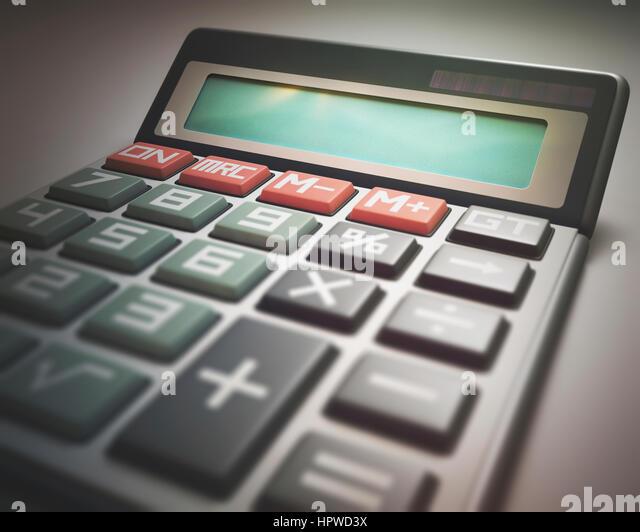Calculator, illustration. - Stock-Bilder
