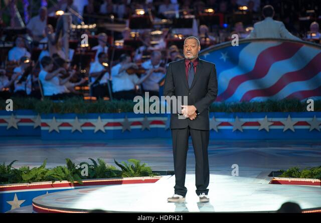 Actor Laurence Fishburne performs at the National Memorial Day Concert on the U.S. Capitol West Lawn May 24, 2015 - Stock Image