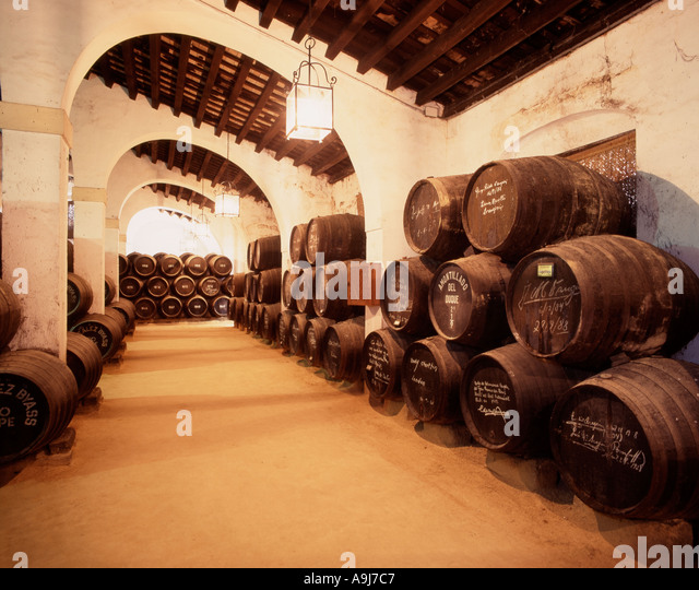 Jerez de la Frontera Gonzales Byass Bodega La Constancia - Stock Image