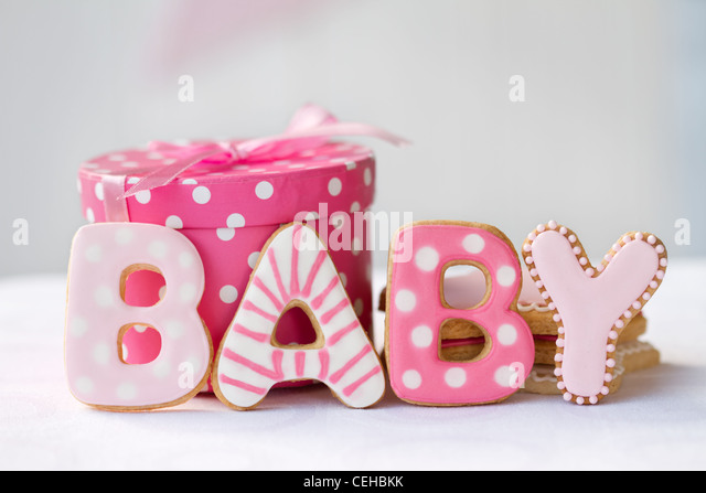 Baby shower cookies - Stock Image