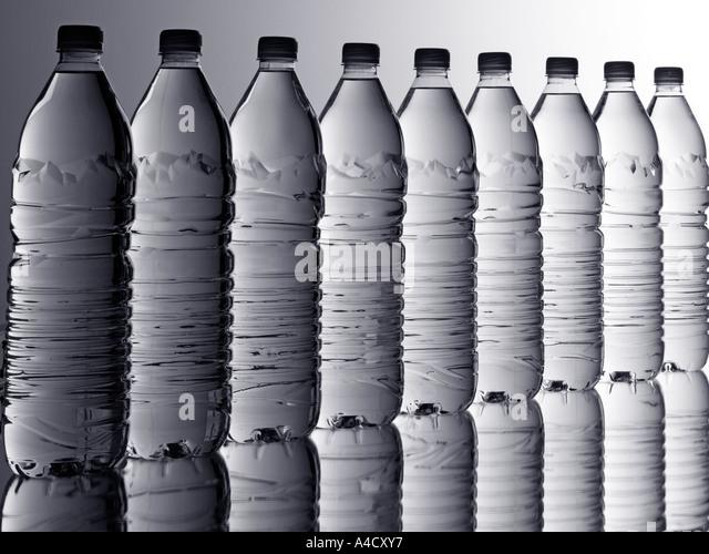 BOTTLED WATER - Stock Image