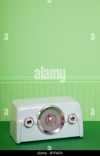 vintage green radio - Stock-Bilder