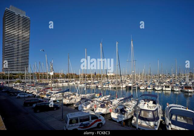 La Barceloneta is a neighborhood in the Ciutat Vella district of Barcelona, Catalonia, Spain. The neighborhood was - Stock Image
