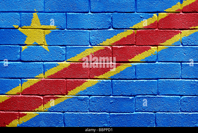 Flag of the Democratic Republic of the Congo - Stock-Bilder
