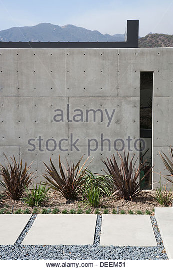 Exterior of modern home - Stock Image