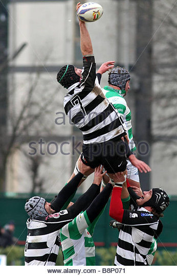 alberto saccardo  'treviso 06-01-2009 'rugby super 10 2008-2009 championship'benetton treviso-rugby roma 'photo - Stock Image