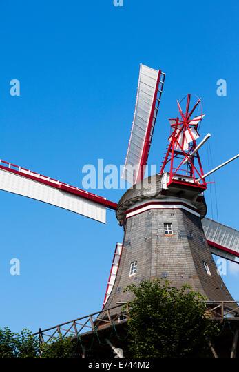 Am Wall Windmill, Bremen, Germany - Stock Image