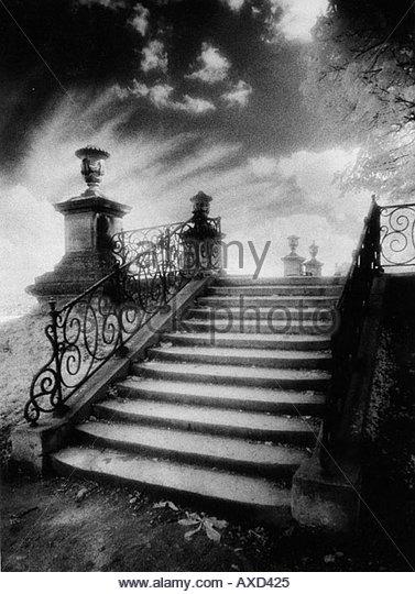 Steps, Chateau Vieux, Saint-Germain-en-Laye, Paris - Stock-Bilder