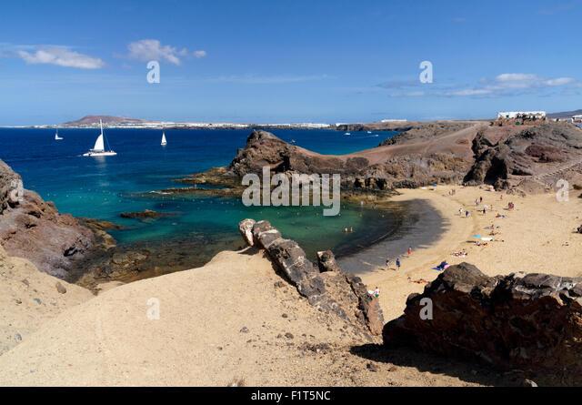 Papagayo Beach, Playa Blanca, Lanzarote, Canary Islands, Spain. - Stock-Bilder