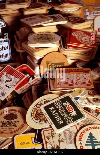 Beer mats stock photos beer mats stock images alamy - Cardboard beer coasters ...