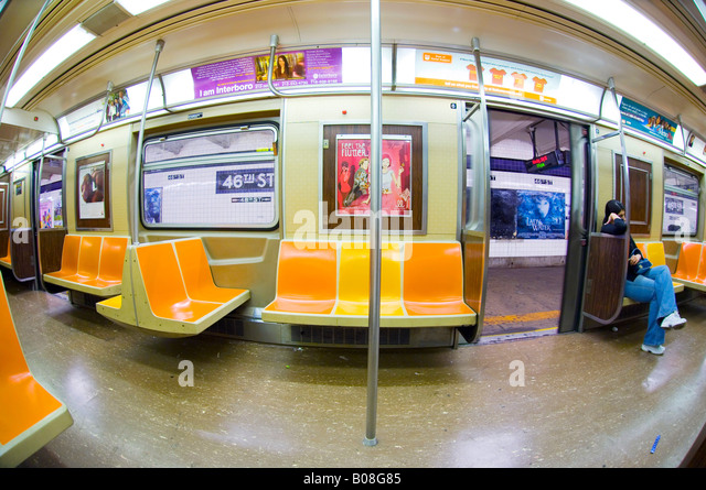 fisheye view new york subway stock photos fisheye view new york subway stock images alamy. Black Bedroom Furniture Sets. Home Design Ideas