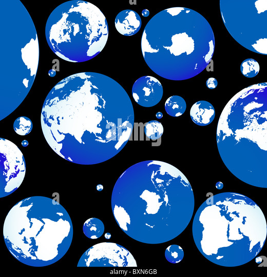blue planet - Stock Image