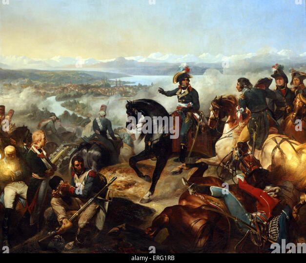 Bataille de Zurich gagnee par General Massena 25 Septembre 1797 - Stock Image