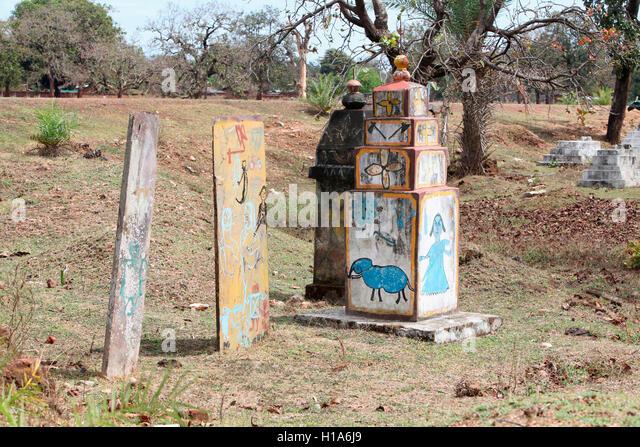 Megaliths, Chattisgarh, India - Stock Image