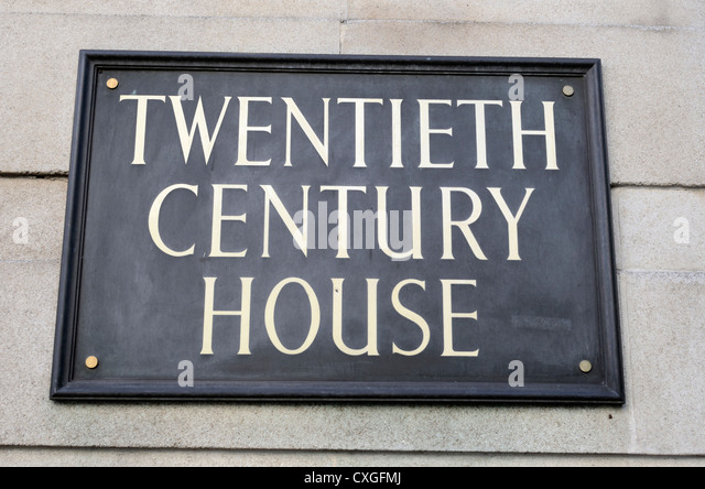 Twentieth Century House home to the 20th Century Fox film company in Soho Square, London, England - Stock Image