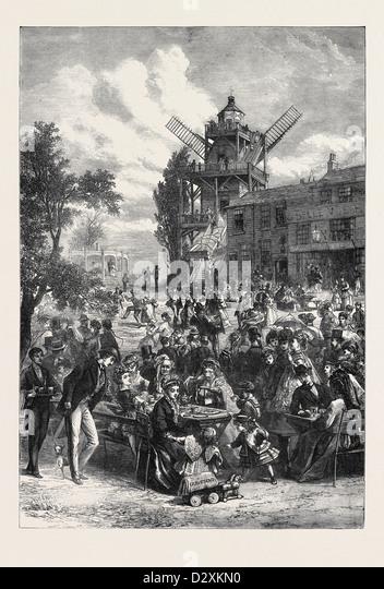 A SATURDAY HALF HOLIDAY 1871 - Stock Image