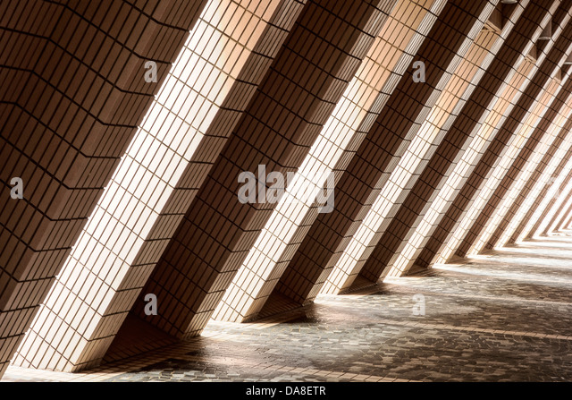 Diagonal Architectural Abstract - Stock Image