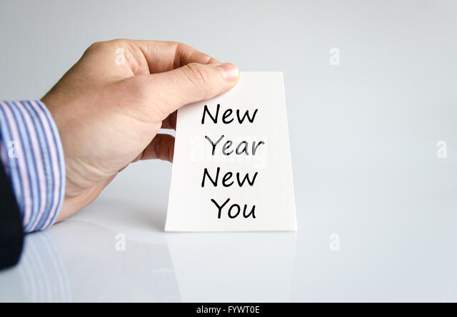 New year new you text concept - Stock Image