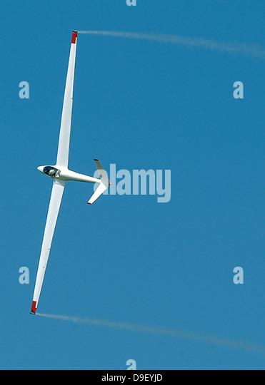 A sailplane glider during the 2007 Naval Air Station Oceana Air Show. - Stock Image