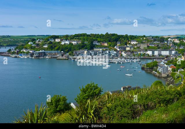 Popular tourist destination Kinsale harbour from Scilly, County Cork, Ireland - Stock-Bilder