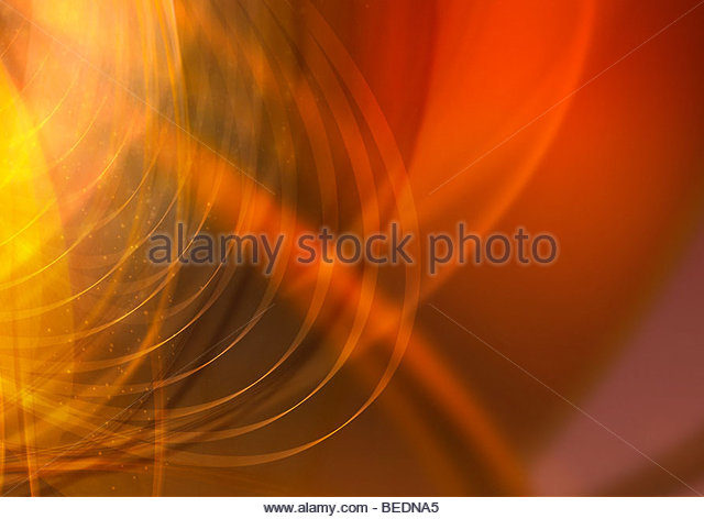 Abstract background pattern of curved yellow grid - Stock Image