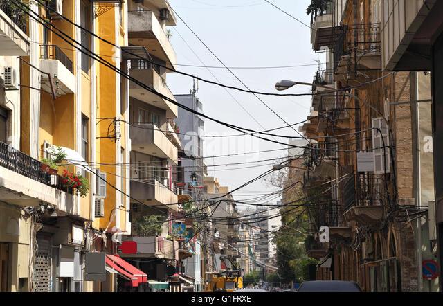 Gemmayze, Beirut - Stock Image