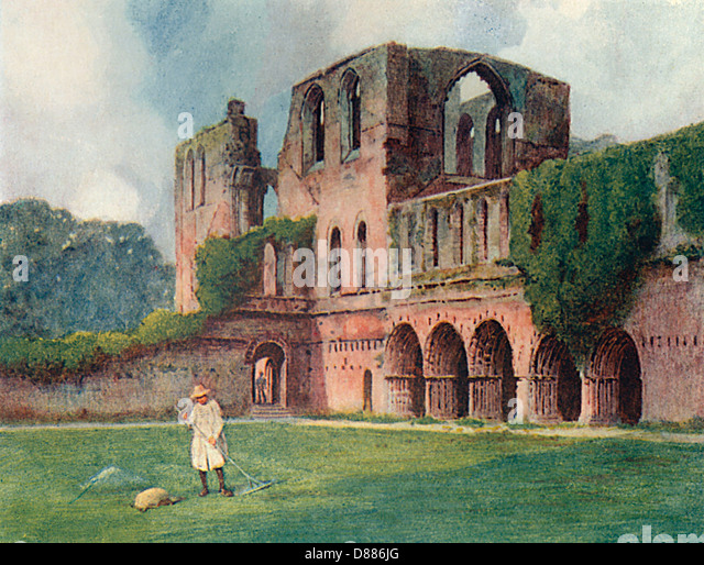 Furness Abbey Goble 1908 - Stock Image