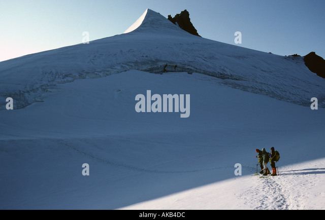 The Hohe Wilde from the Gurgl glacier, Ötztal Alps, Austria - Stock Image