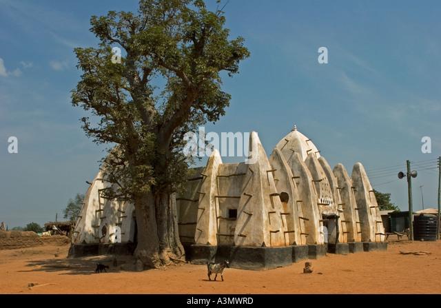 Irabanga Mosque Larabanga Village Ghana West Africa - Stock Image