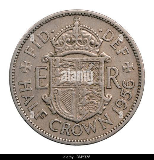 1956 half crown coin - Stock-Bilder
