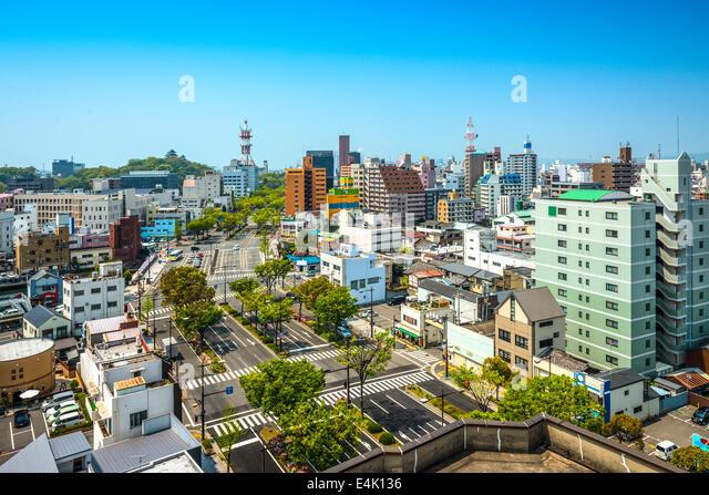 Wakayama City, Wakayama, Japan cityscape. - Stock-Bilder